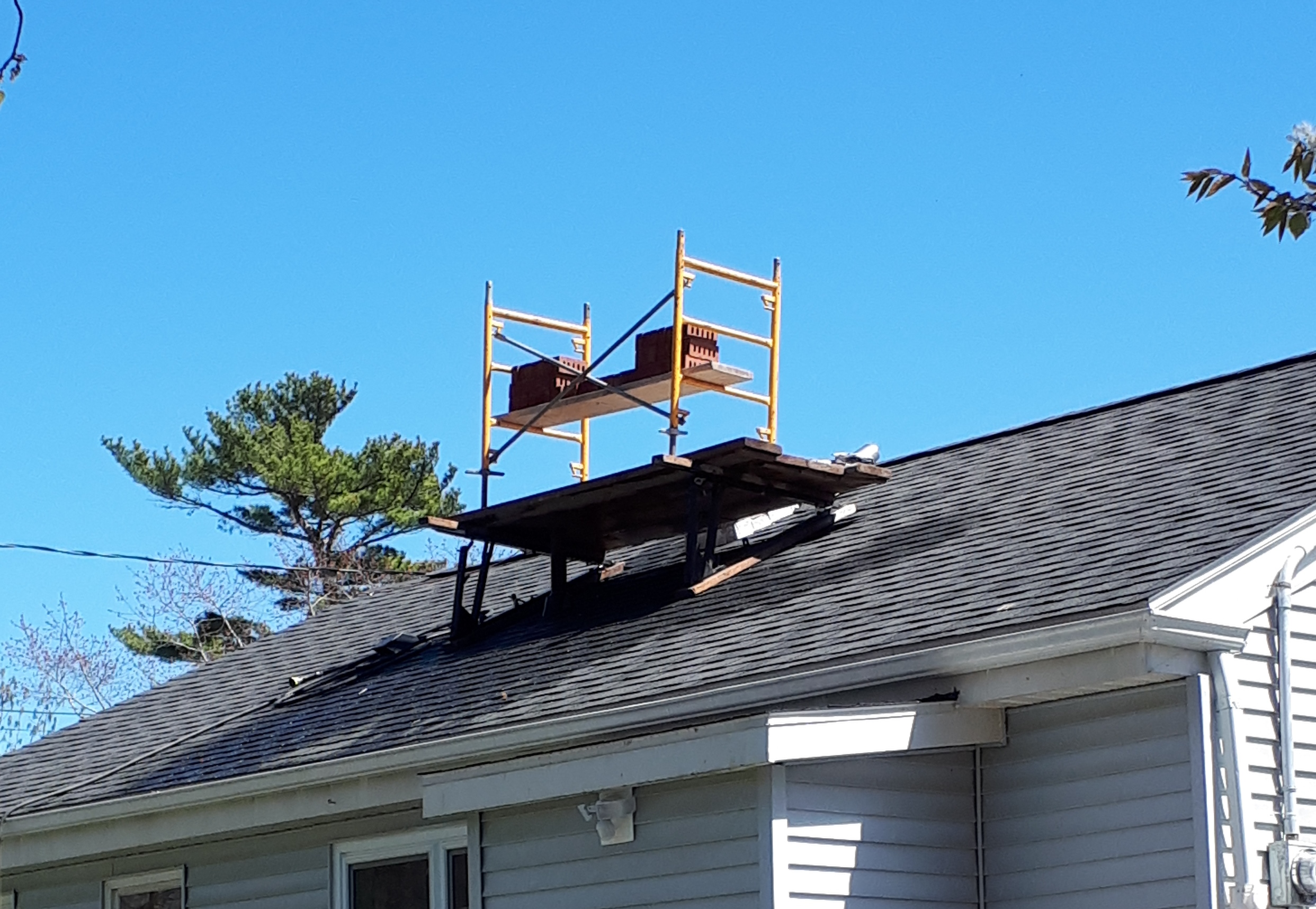 image of chimney construction-rebuild services completed in Fall River, NS by Pro Chimney Services based in Halifax, NS servicing all of the Halifax-Dartmouth Regional Municipality, Bedford, Sackville, Mount Uniacke, Windsor, Hantsport , Wolfville, Kentville, Chester, Mahone Bay, Lunenburg, Bridgewater, Liverpool, Fall River, Wellington, Enfield, Elmsdale, Brookfield, Truro, Musquodoboit Harbour & surrounding areas.