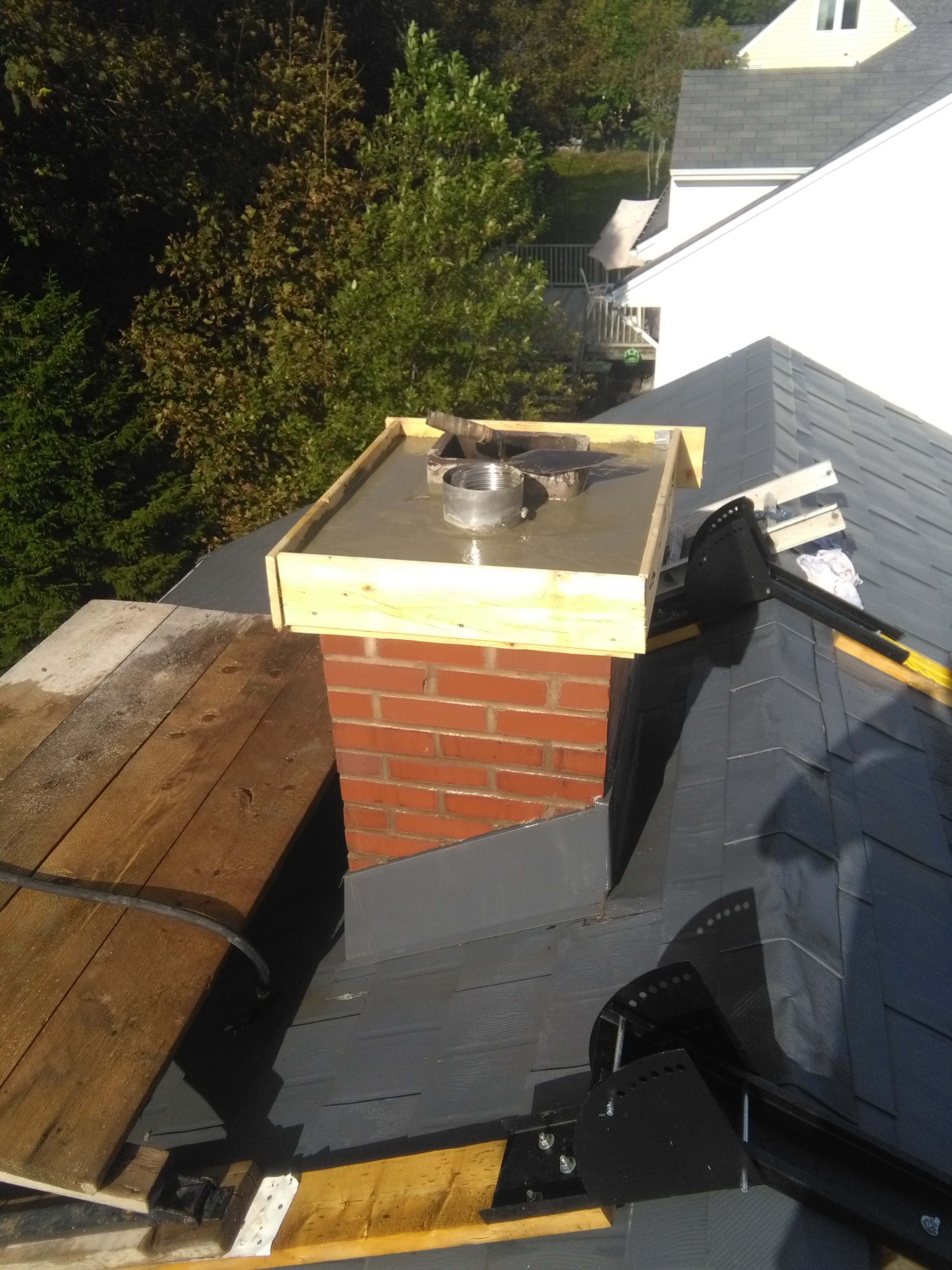 image of chimney construction-rebuild services completed in Halifax-Dartmouth Regional Municipality, NS by Pro Chimney Services based in Halifax, NS servicing all of the Halifax-Dartmouth Regional Municipality, Bedford, Sackville, Mount Uniacke, Windsor, Hantsport , Wolfville, Kentville, Chester, Mahone Bay, Lunenburg, Bridgewater, Liverpool, Fall River, Wellington, Enfield, Elmsdale, Brookfield, Truro, Musquodoboit Harbour & surrounding areas.