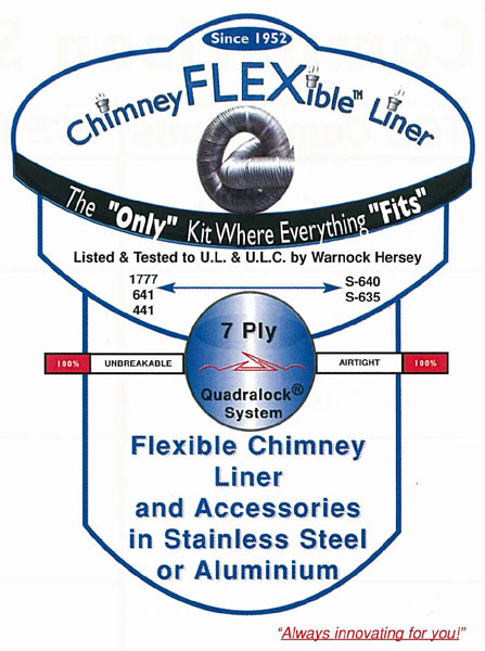 image of chimney liner kit-chimney liner installation services provided by Pro Chimney Services based in Halifax, NS servicing all of the Halifax-Dartmouth Regional Municipality, Bedford, Sackville, Mount Uniacke, Windsor, Hantsport , Wolfville, Kentville, Chester, Mahone Bay, Lunenburg, Bridgewater, Liverpool, Fall River, Wellington, Enfield, Elmsdale, Brookfield, Truro, Musquodoboit Harbour & surrounding areas.